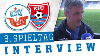 Interview nach dem 3. Spieltag