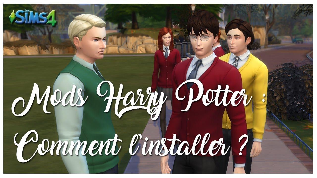 ♠️ INSTALLER LE MODS HARRY POTTER ⚡️ Sims 4 / Mods Harry