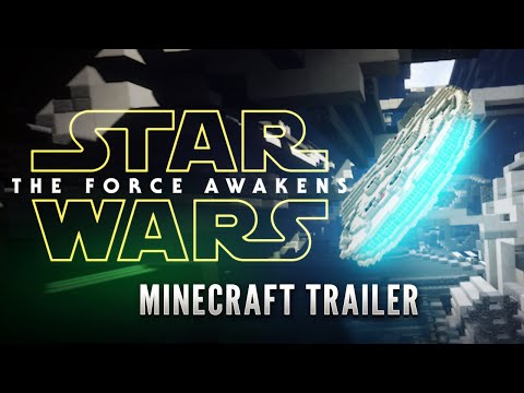 STAR WARS EPISODE 7 TRAILER in MINECRAFT