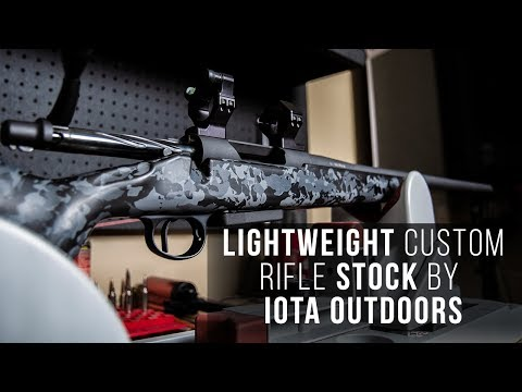 Lightweight Custom Rifle Stock for Backcountry Hunting