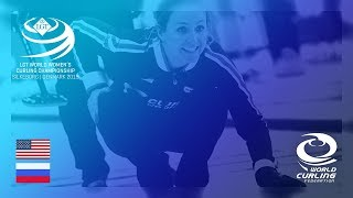 United States v Russia - round robin - LGT World Women's Curling Championships 2019