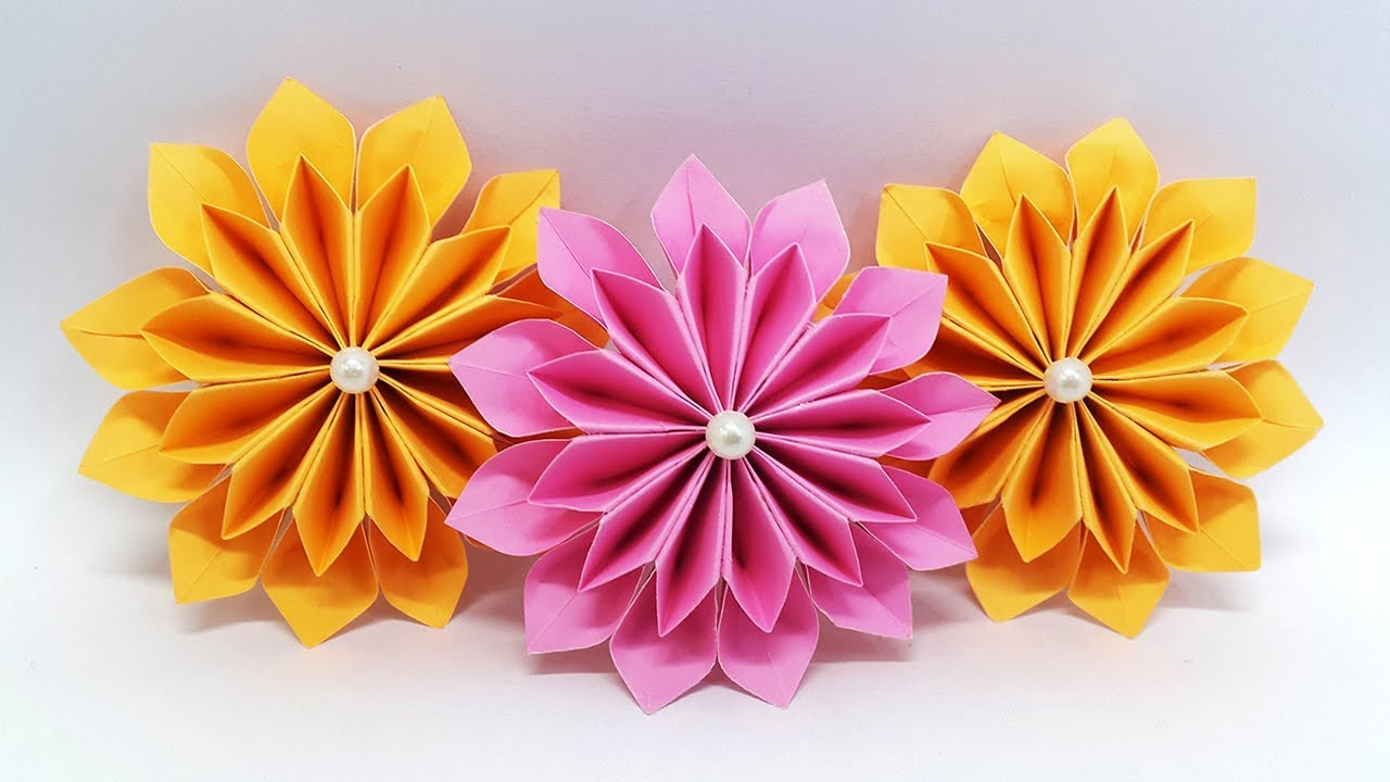 origami paper crafts ideas diy paper flowers easy tutorial origami flower 5053