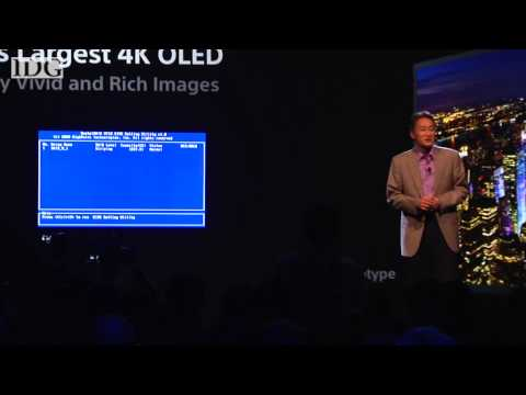 CES2013: Sony's 4K OLED blue screens during CES presentation