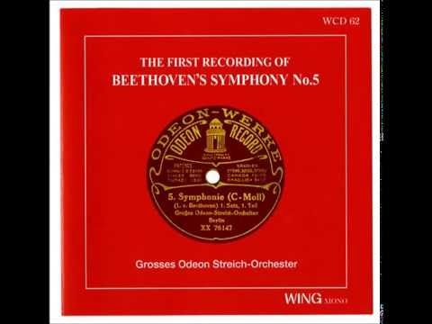 The first recording of Betthoven's 5th Symphony