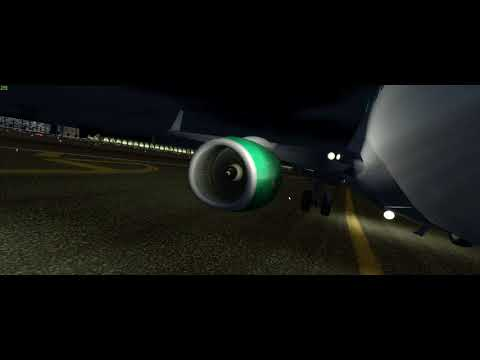 [P3D] Night Landing at OMDB ILS 12L (18.12.17)