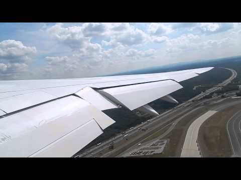 LH 747-8 Takeoff & Climbout Frankfurt HD Beautiful Sky