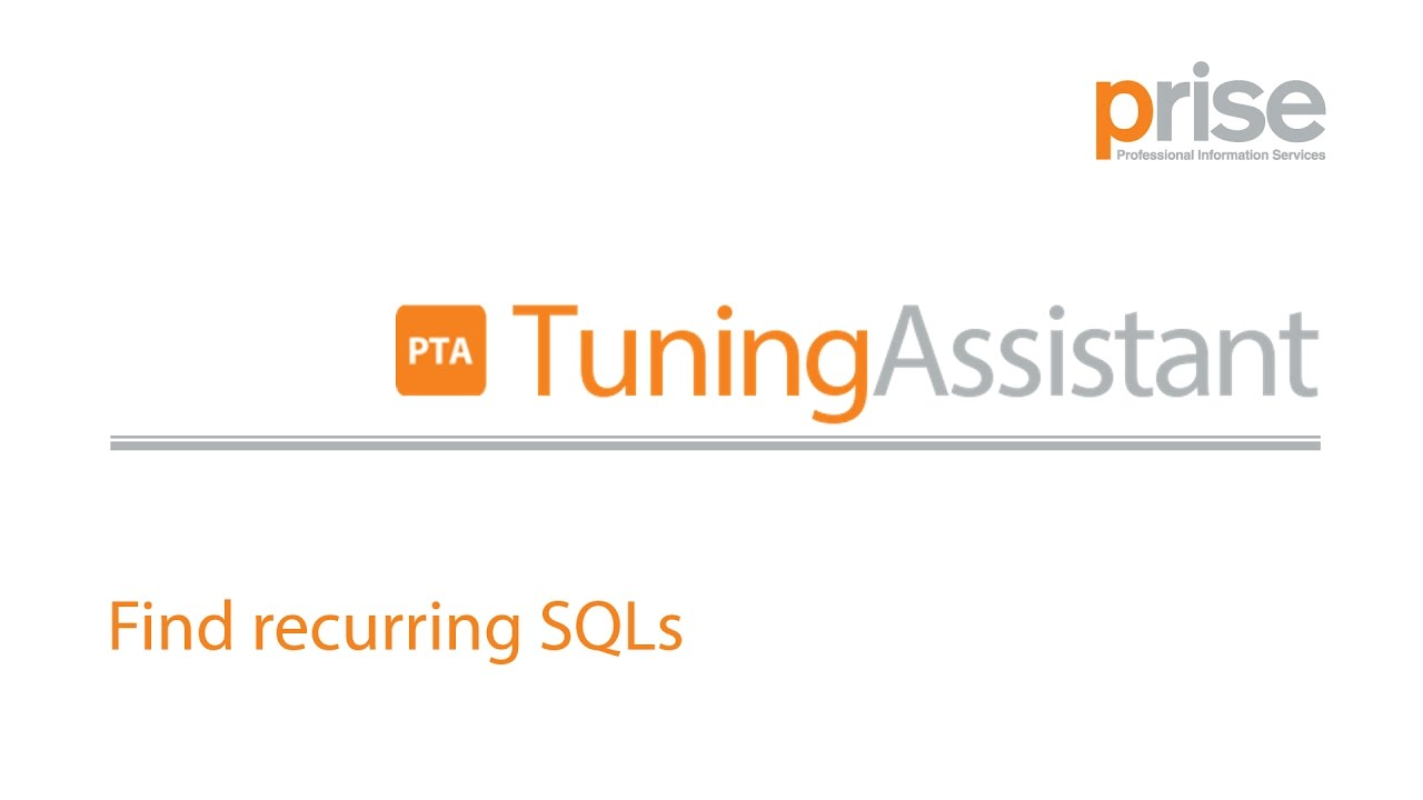 PRISE Teradata Database Optimization - PRISE Teradata Tuning