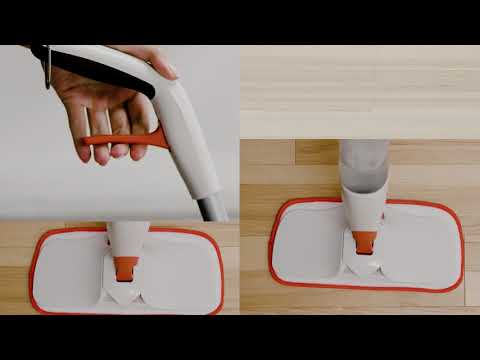 OXO Spray Mop with Slide-Out Scrubber