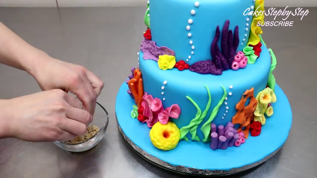 Finding Nemo Cake How To Make By CakesStepbyStep YouTube - Nemo fish birthday cake