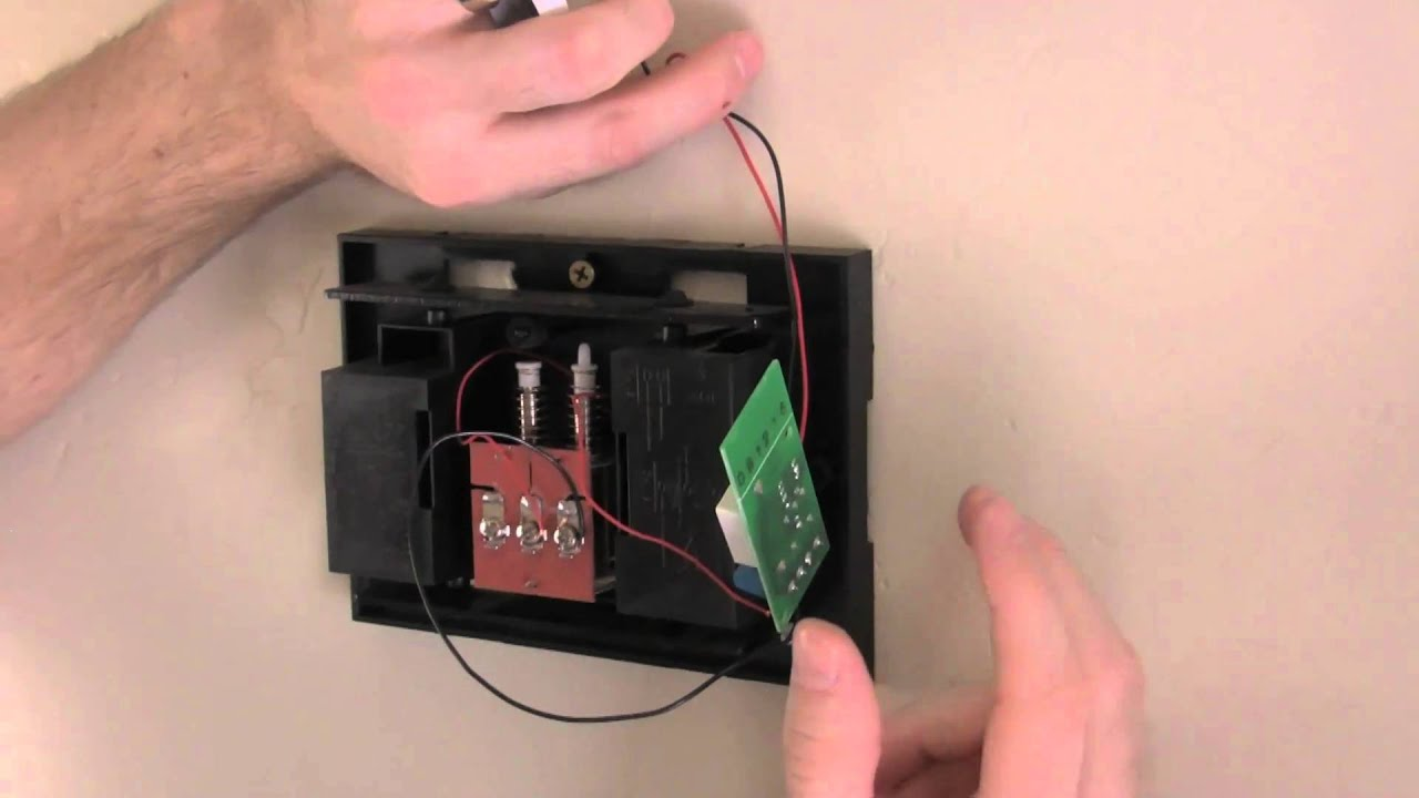 doorbell package installation youtube rh youtube com Broan Doorbell Wiring -Diagram how to wire nutone doorbell