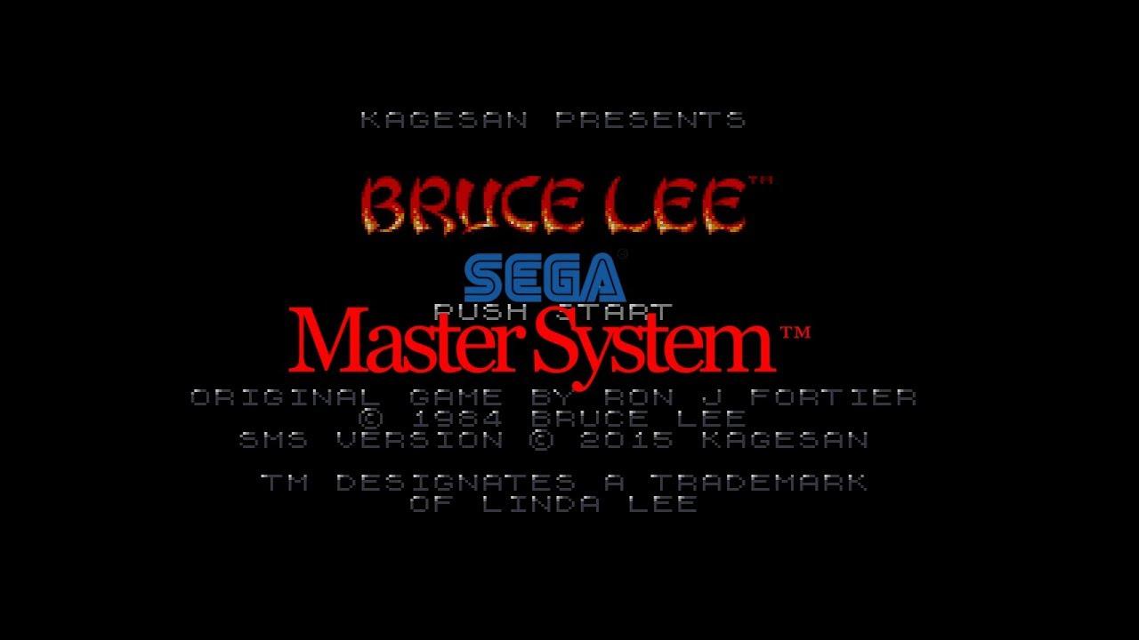 HOMEBREW Fan Made BRUCE LEE sega master system cib region free