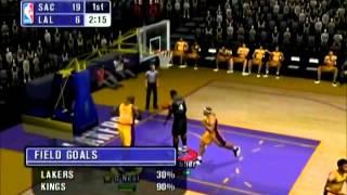 NBA Inside Drive 2002 Kings vs Lakers Part 1