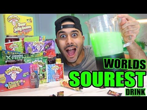 Thumbnail: SOUREST DRINK IN THE WORLD CHALLENGE!! ⚠️ ☠ (EXTREMELY DANGEROUS) Warheads, Toxic Waste..