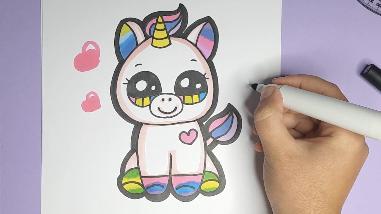 Kawaii Baby Einhorn Wie Zeichnet Man Ein Einhorn Youtube