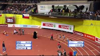 800m Women Final (European Athletics Indoor Championships 2015)