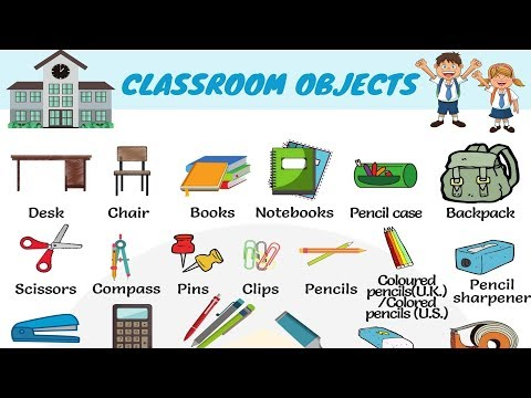 Classroom Objects in English | Learn Classroom Vocabulary with Pictures