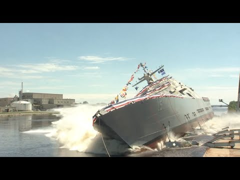 The US Navy's new $300M combat ship was just launched