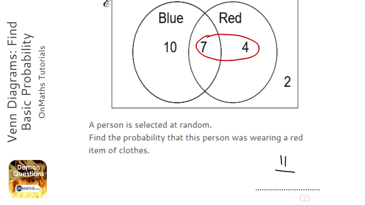 Venn Diagrams Find Basic Probability Grade 4 Onmaths Gcse Maths