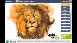 How to draw Aslan from Narnia