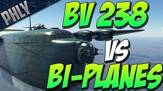 WAR THUNDERS BIGGEST PLANE Vs Smallest PLANES!  (War Thunder Gameplay)