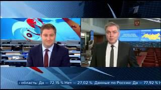 Часы и начало программы Вечерний новости (Первый канал, 02.07.2020)