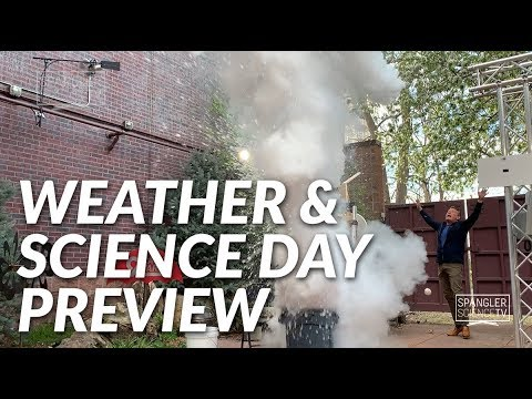 Weather and Science Day Preview - Liquid Nitrogen Explosion First Pitch on 9News