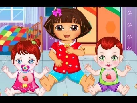 دورا الصغيرة رعاية الاطفال الصغار العاب كرتون دورا للاطفال