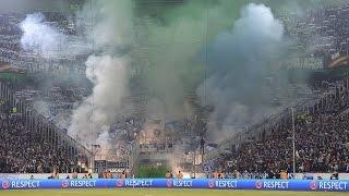 Schalker Pyroshow in Gladbach 16.03.17 (Borussia Mönchengladbach - FC Schalke 04 2:2)