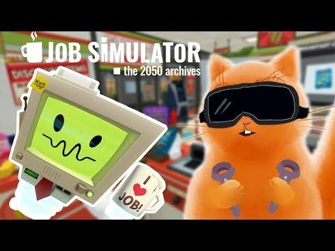 СИМУЛЯТОР ПРОДАВЦА В ИГРЕ Job Simulator VR Кот Джем устроился на работу и играет в детский летсплейиз YouTube · Длительность: 13 мин47 с