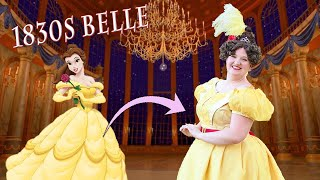 I made a Historically Accurate Belle Gown || Historical Disney Costume