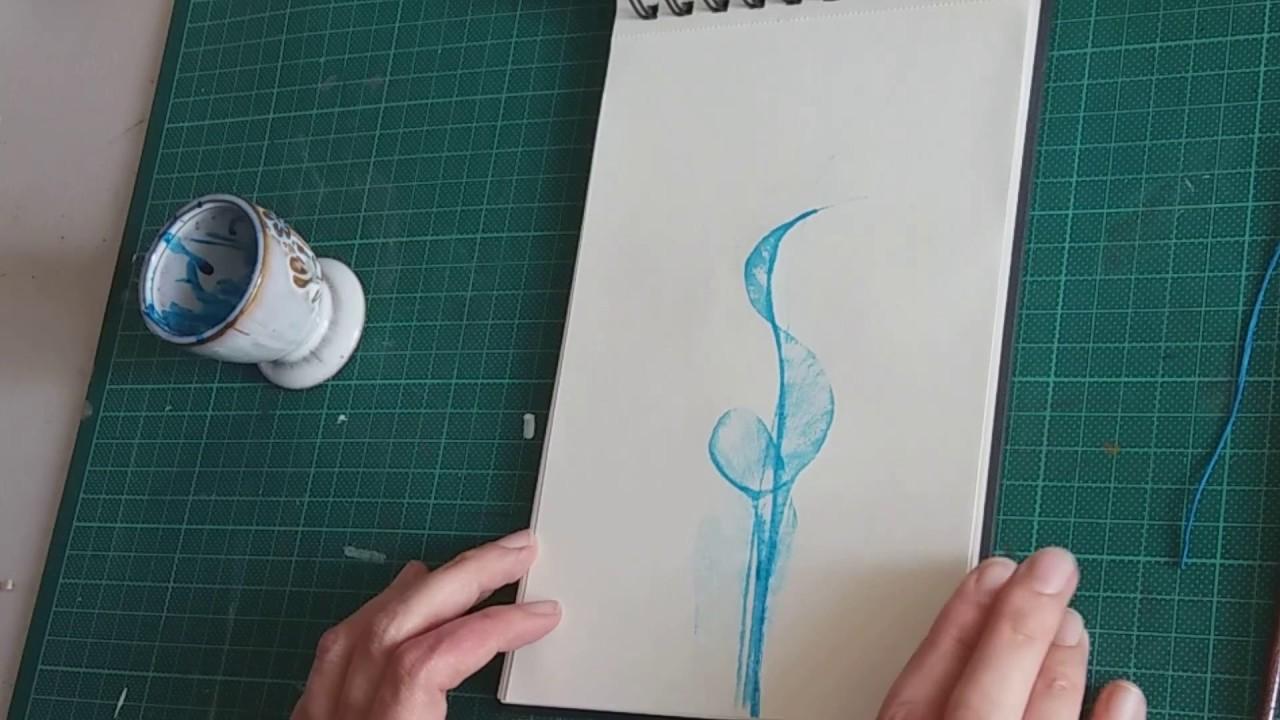 Faire Des Motifs à Lencre Avec Une Ficelle Gros Fil Youtube