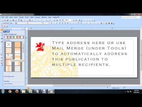 How to Change the Background Color in a Microsoft Publisher Label : Tech Niche