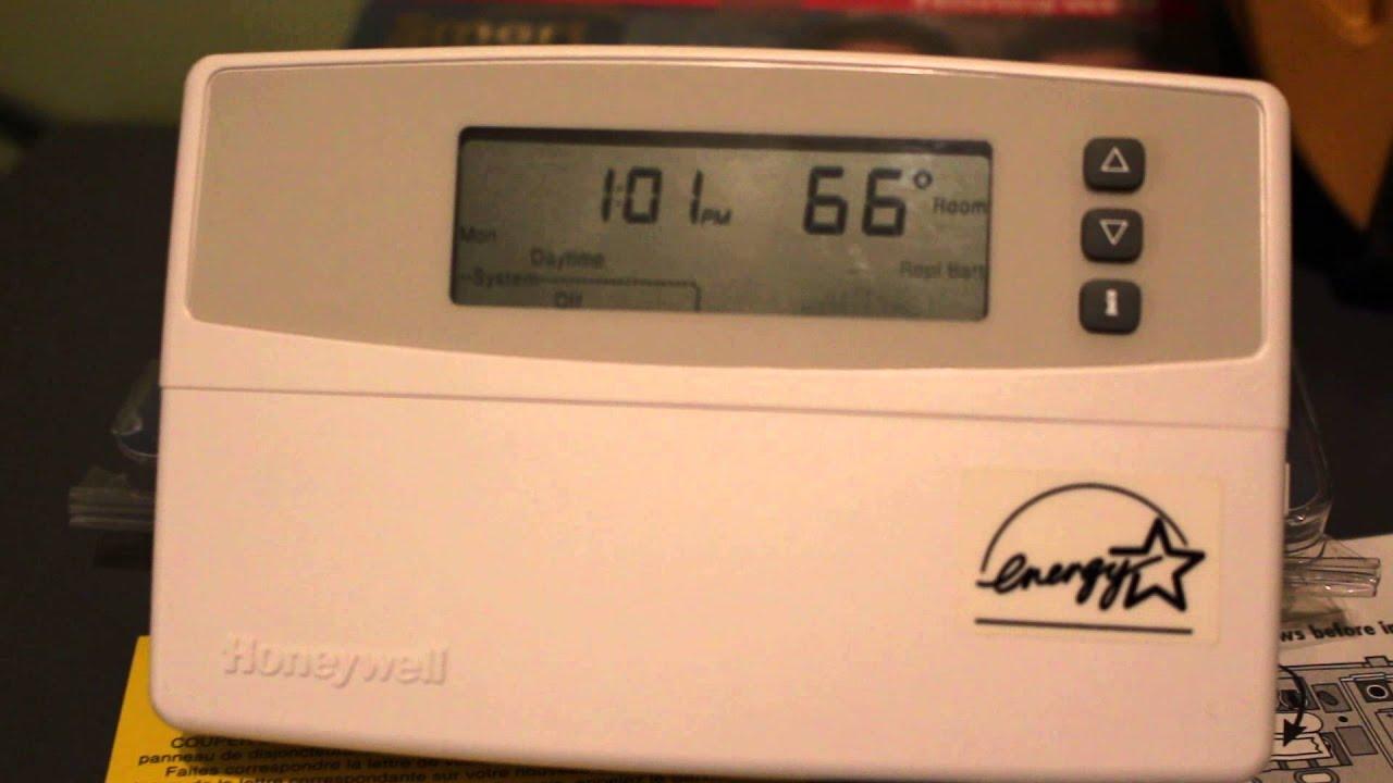 Honeywell Thermostat Model 3600 Youtube