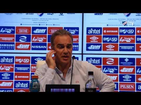 Conferencia de Prensa de Martín Lasarte el 30/10/2016