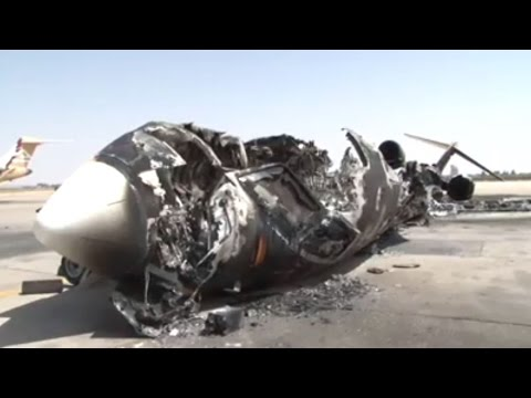 Damage that occurred Tripoli International Airport 2014