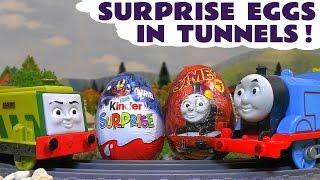 thomas and friends toy trains surprise eggs opened by superheroes toys spiderman batman hulk tt4u