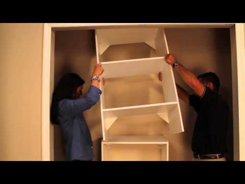 Meryl Starr installs ClosetMaid Laminate Shelving