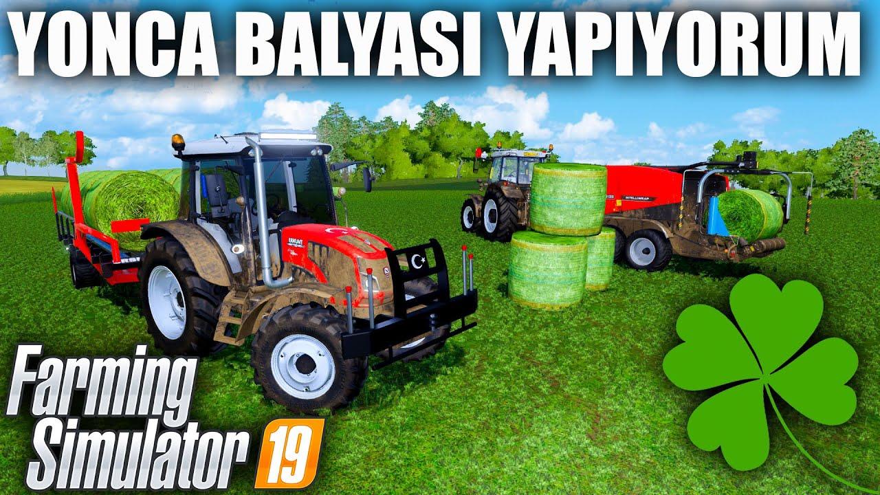 TARLADAKİ YONCALARI BALYA YAPIYORUM // FARMING SIMULATOR 2019