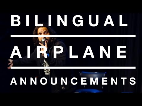 Mike Falzone | Bilingual Airplane Announcements | Stand Up Comedy