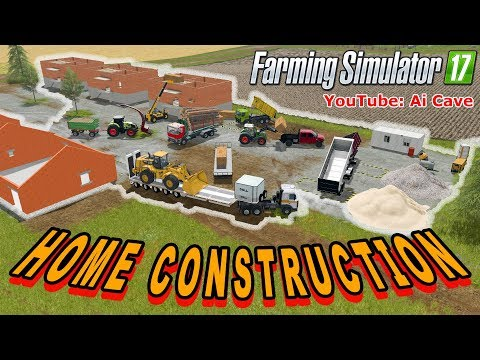 Farming Simulator 2017 Mods - Home Construction - Mining & Boards Production