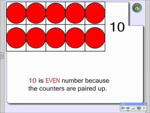 First Grade Odd And Even Number Lesson Youtube