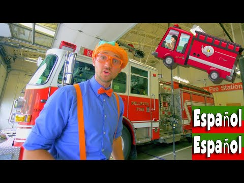 Blippi Español Explora los Camiones de Bomberos para niños  Canción del Camión de Bomberos