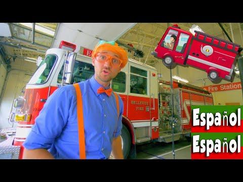 Blippi Español Explora los Camiones de Bomberos para niños |Canción del Camión de Bomberos