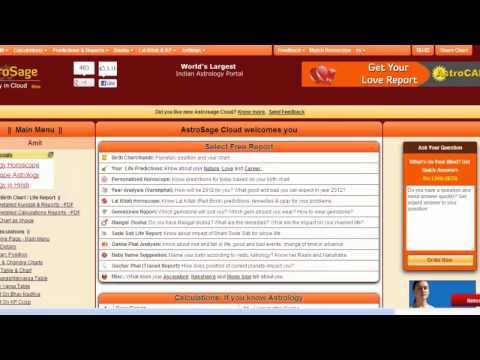 AstroSage Cloud: Free Astrology Software Online