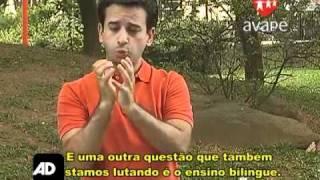 COM AD - Aprenda LIBRAS - Ensino bilíngüe para crianças surdas