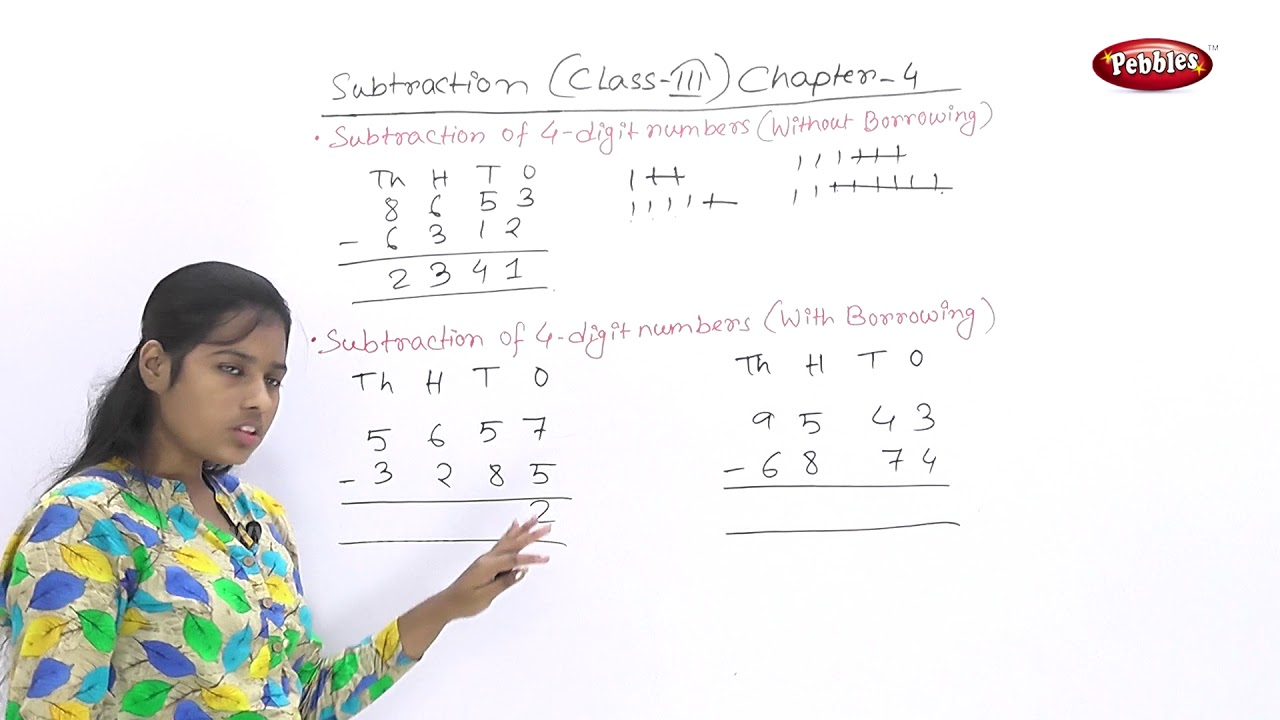 hight resolution of CBSE Class 3 Maths   Chapter :4   Subtraction   Subtraction of 4-digit  Numbers   CBSE Syllabus   - YouTube