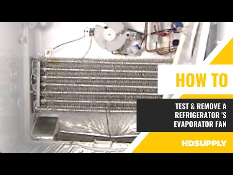 GE Refrigerator- Evaporator Fan Testing & Removal - HD Supply Facilities on
