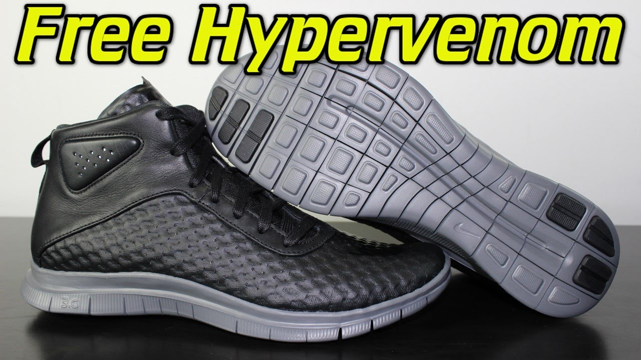 5b0e8139c421 Nike Free Hypervenom Mid Black Dark Grey - Review + On Feet - YouTube