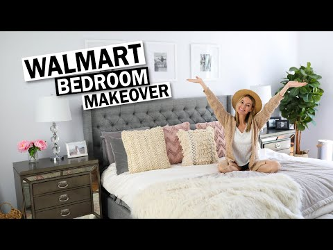 Walmart Bedroom Makeover | Bedroom Decor On A Budget