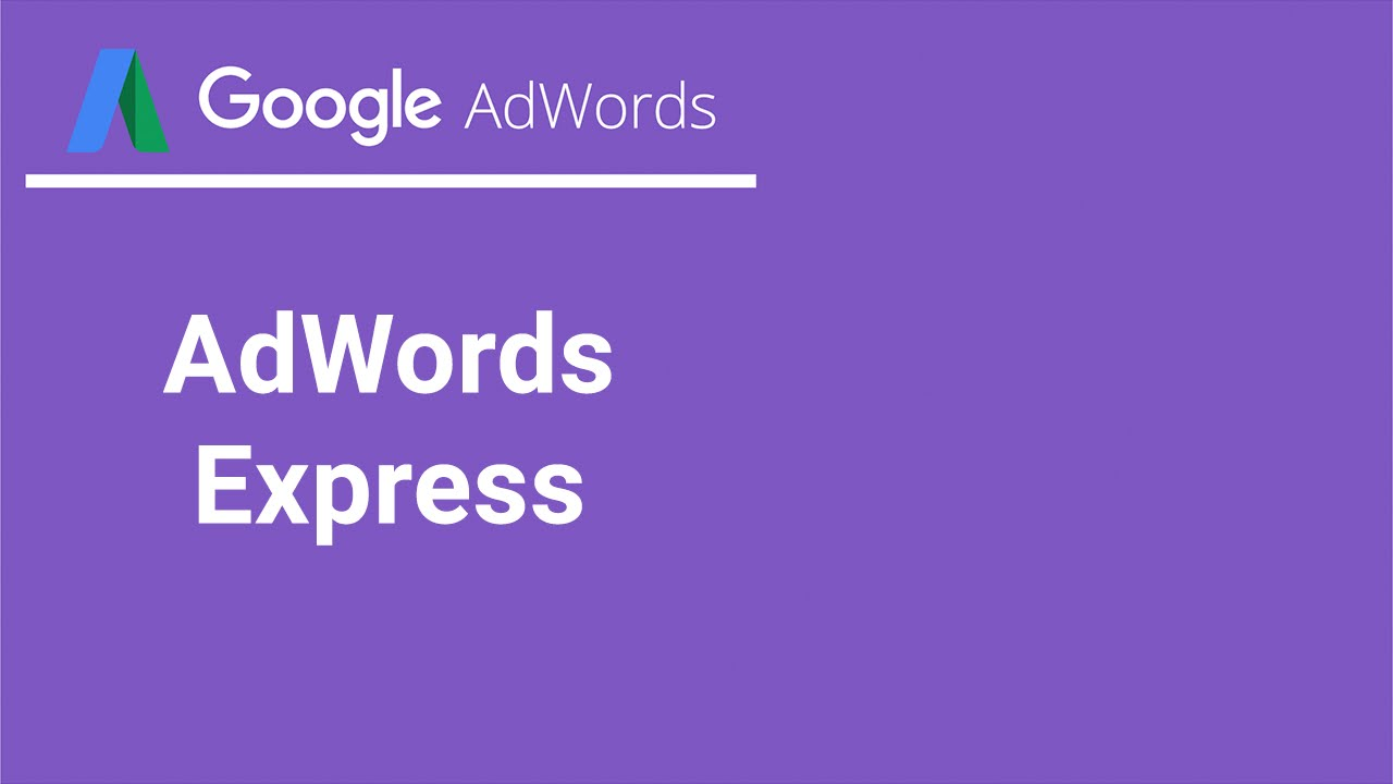 c85485759 Aprenda sobre AdWords Express - YouTube